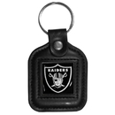 Siskiyou Buckle FLK126 Oakland Raiders Square Leather Key Chain