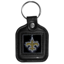 Siskiyou Buckle FLK151 New Orleans Saints Square Leather Key Chain