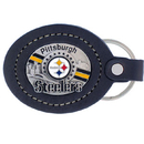 Siskiyou Buckle FLK160 Leather Keychain - Pittsburgh Steelers