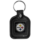 Siskiyou Buckle FLK161 Pittsburgh Steelers Square Leather Key Chain