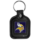 Siskiyou Buckle FLK166 Minnesota Vikings Square Leather Key Chain