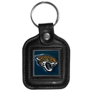 Siskiyou Buckle FLK176 Jacksonville Jaguars Square Leather Key Chain
