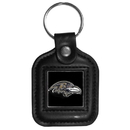 Siskiyou Buckle FLK181 Baltimore Ravens Square Leather Key Chain