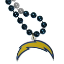 Siskiyou Buckle Los Angeles Chargers Mardi Gras Bead Necklace, FMBN040
