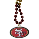 Siskiyou Buckle San Francisco 49ers Mardi Gras Bead Necklace, FMBN075