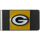 Siskiyou Buckle FMCL115 Green Bay Packers Steel Money Clip
