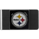 Siskiyou Buckle FMCL160 Pittsburgh Steelers Steel Money Clip