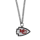 Siskiyou Buckle FN045SC Kansas City Chiefs Chain Necklace with Small Charm