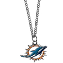 Siskiyou Buckle FN060SC Miami Dolphins Chain Necklace with Small Charm
