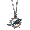 Siskiyou Buckle FN060 Miami Dolphins Chain Necklace