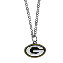 Siskiyou Buckle FN115SC Green Bay Packers Chain Necklace with Small Charm