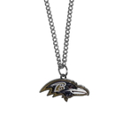 Siskiyou Buckle FN180SC Baltimore Ravens Chain Necklace with Small Charm