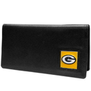 Siskiyou Buckle FNC115BX Green Bay Packers Leather Checkbook Cover