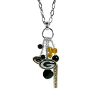 Siskiyou Buckle Green Bay Packers Cluster Necklace, FNCL115
