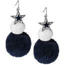 Siskiyou Buckle Dallas Cowboys Pom Pom Earrings, FPPE055
