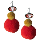 Siskiyou Buckle FPPE075 San Francisco 49ers Pom Pom Earrings