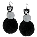 Siskiyou Buckle Oakland Raiders Pom Pom Earrings, FPPE125