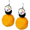 Siskiyou Buckle Pittsburgh Steelers Pom Pom Earrings, FPPE160