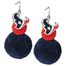 Siskiyou Buckle FPPE190 Houston Texans Pom Pom Earrings