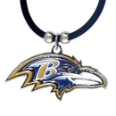 Siskiyou Buckle FPR180 Baltimore Ravens Rubber Cord Necklace