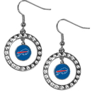 Siskiyou Buckle FRE015 Buffalo Bills Rhinestone Hoop Earrings