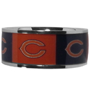 Siskiyou Buckle Chicago Bears Steel Inlaid Ring Size 10, FRIS005-10