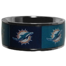 Siskiyou Buckle Miami Dolphins Steel Inlaid Ring Size 10, FRIS060-10