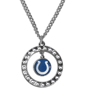 Siskiyou Buckle FRN050 Indianapolis Colts Rhinestone Hoop Necklace