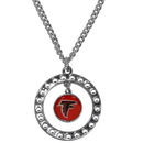 Siskiyou Buckle FRN070 Atlanta Falcons Rhinestone Hoop Necklace