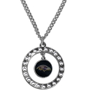Siskiyou Buckle FRN180 Baltimore Ravens Rhinestone Hoop Necklace