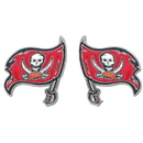 Siskiyou Buckle FSE030 Studded NFL Earrings - Tampa Bay Buccaneers