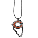 Siskiyou Buckle Chicago Bears State Charm Necklace, FSN005