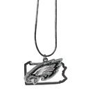 Siskiyou Buckle Philadelphia Eagles State Charm Necklace, FSN065