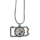 Siskiyou Buckle Pittsburgh Steelers State Charm Necklace, FSN160