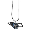 Siskiyou Buckle Tennessee Titans State Charm Necklace, FSN185