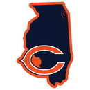 Siskiyou Buckle Chicago Bears Home State 11 Inch Magnet, FSTM005