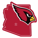 Siskiyou Buckle FSTM035 Arizona Cardinals Home State 11 Inch Magnet