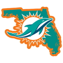 Siskiyou Buckle Miami Dolphins Home State 11 Inch Magnet, FSTM060