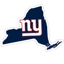 Siskiyou Buckle New York Giants Home State 11 Inch Magnet, FSTM090