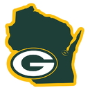 Siskiyou Buckle Green Bay Packers Home State 11 Inch Magnet, FSTM115