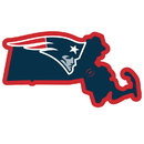 Siskiyou Buckle New England Patriots Home State 11 Inch Magnet, FSTM120
