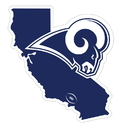 Siskiyou Buckle Los Angeles Rams Home State 11 Inch Magnet, FSTM130