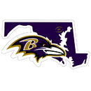 Siskiyou Buckle Baltimore Ravens Home State 11 Inch Magnet, FSTM180