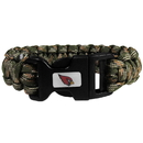 Siskiyou Buckle FSUB035GC Arizona Cardinals Camo Survivor Bracelet