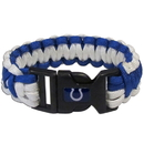 Siskiyou Buckle FSUB050 Indianapolis Colts Survivor Bracelet
