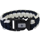 Siskiyou Buckle FSUB055 Dallas Cowboys Survivor Bracelet