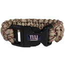 Siskiyou Buckle FSUB090TC New York Giants Camo Survivor Bracelet