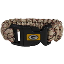 Siskiyou Buckle FSUB115TC Green Bay Packers Camo Survivor Bracelet