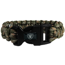Siskiyou Buckle FSUB125GC Oakland Raiders Camo Survivor Bracelet