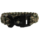 Siskiyou Buckle FSUB150GC New Orleans Saints Camo Survivor Bracelet